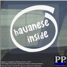 1 x Havanese Inside-Window,Car,Van,Sticker,Sign,Adhesive,Dog,Pet,On,Board,Lead